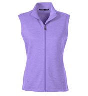 Custom Devon & Jones Ladies Newbury Mélange Fleece Vest