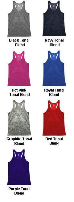 Ladies Tonal Blend Racerback Tank - All Colors