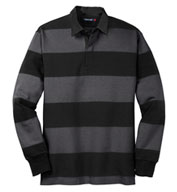 Custom Sport-Tek® Adult Classic Long Sleeve Rugby Polo