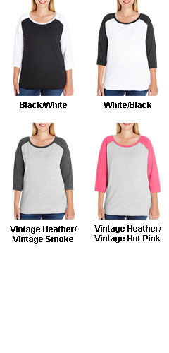 Ladies Curvy Fit Baseball Tee - All Colors