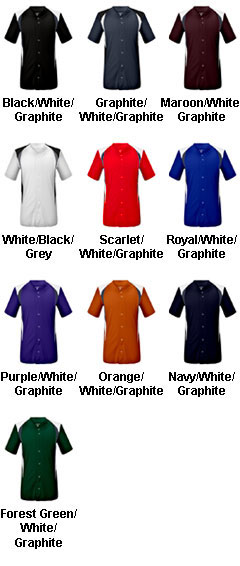 Youth Bull Pen Full Button Jersey - All Colors