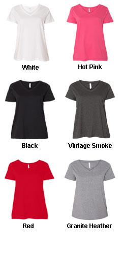 LAT - Curvy Collection Womens V-Neck Tee - All Colors