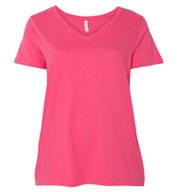 Custom LAT Ladies Curvy Collection V-Neck Tee