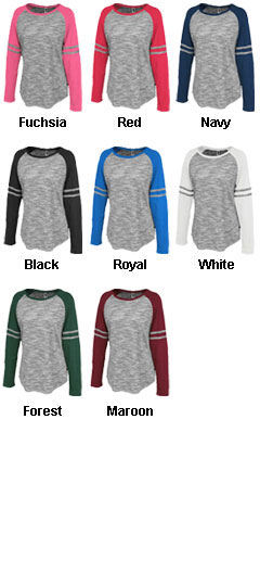 Womens Space-Dye Striped Crew - All Colors