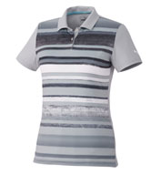 Custom Womens Puma Washed Striped Polo