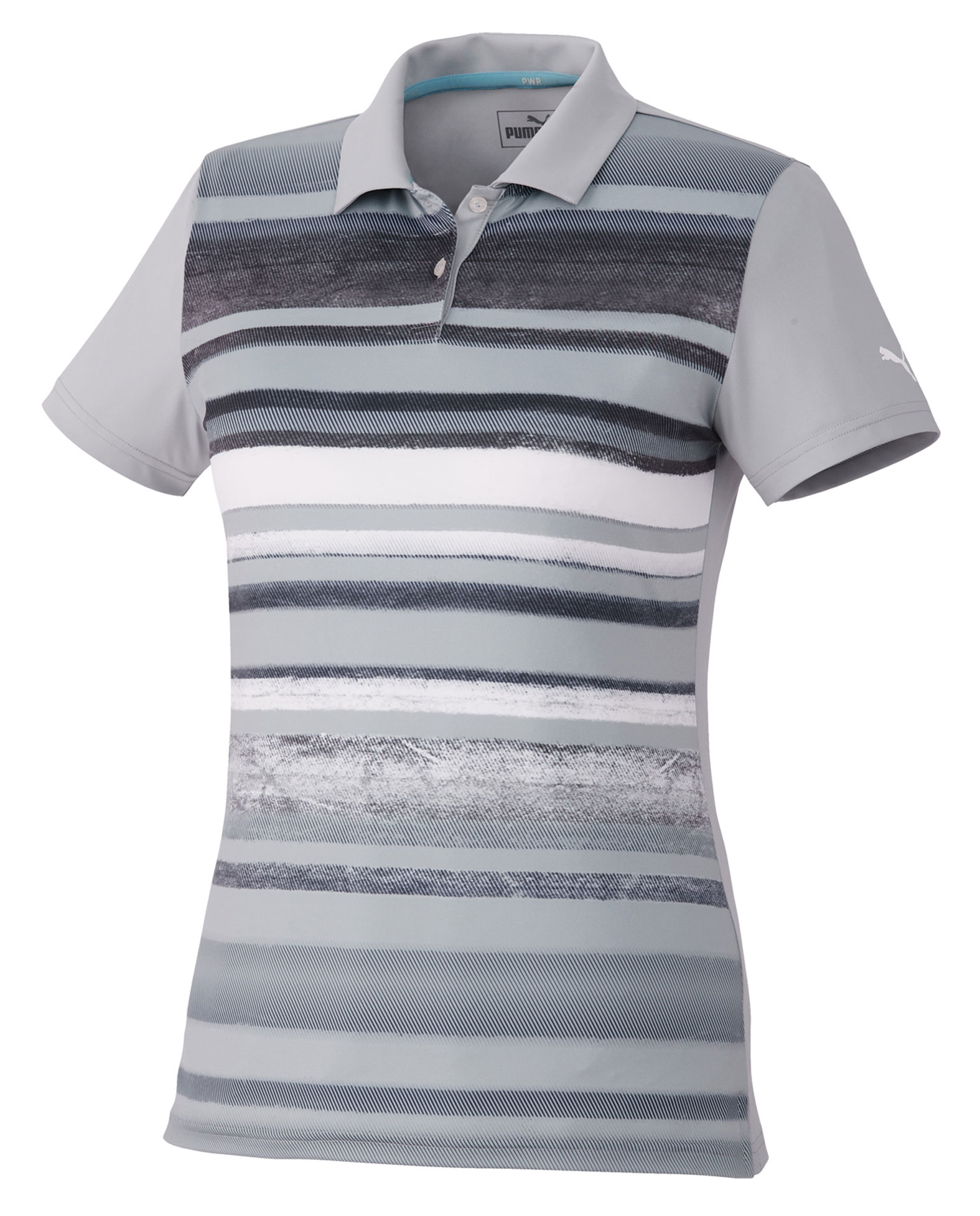 Womens Puma Washed Striped Polo