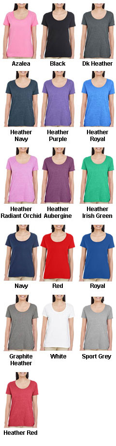 Gildan Ladies Softstyle Deep Scoop T-Shirt - All Colors