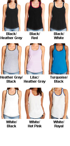 Next Level Ladies Ideal Colorblock Tank - All Colors