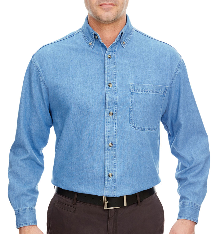 UltraClub Mens Cypress Denim Shirt