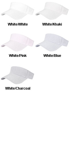 Lightweight Cotton Seersucker Visor - All Colors