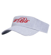 Custom Lightweight Cotton Seersucker Visor