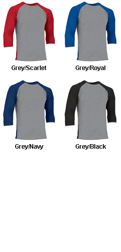 Mens Extra Innings 3/4 Sleeve Baseball Shirt - All Colors