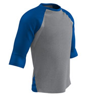 Mens Extra Innings 3/4 Sleeve Baseball Shirt