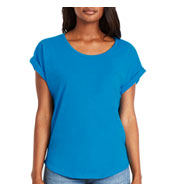Custom Next Level Ladies Dolman Rolled Sleeves