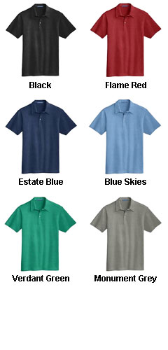 Mens Meridian Cotton Blend Polo - All Colors