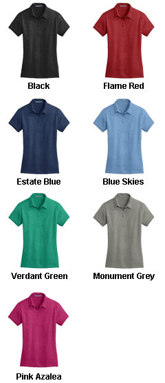 Ladies Meridian Cotton Blend Polo - All Colors