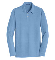 Custom Mens Long Sleeve Meridian Cotton Blend Polo