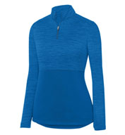Custom Ladies Shadow Tonal Heather 1/4 Zip