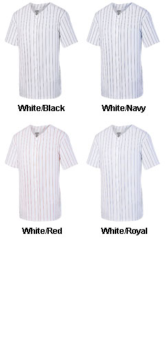 Adult Pinstripe Full Button Baseball Jersey - All Colors