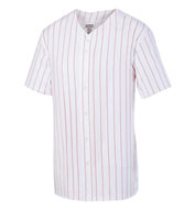 Custom Augusta Adult Pinstripe Full Button Baseball Jersey