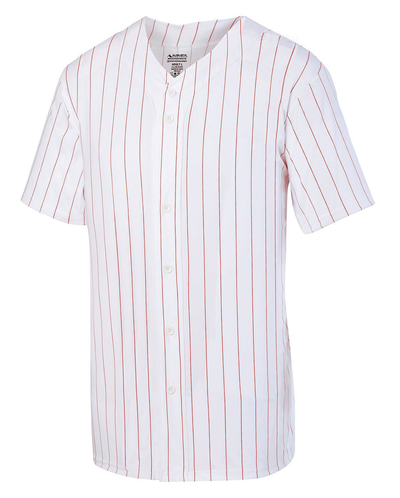 Augusta Adult Pinstripe Full Button Baseball Jersey