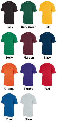 Youth Shadow Tonal Heather Training Tee - All Colors