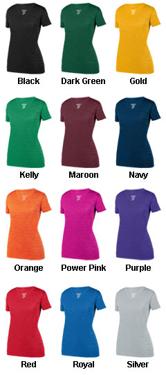 Ladies Shadow Tonal Heather Training Tee - All Colors