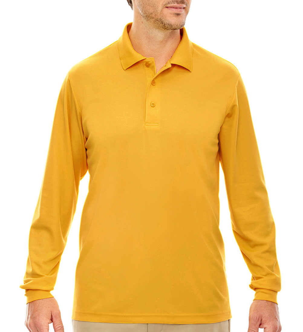 Mens Pinnacle Performance Long-Sleeve Polo