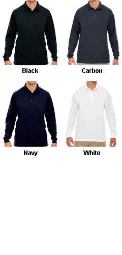 Mens Tall Pinnacle Performance Long-Sleeve Polo - All Colors