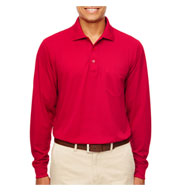 Mens Pinnacle Performance Long-Sleeve Pocket Polo