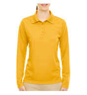 Custom Ladies Pinnacle Performance Long-Sleeve Polo