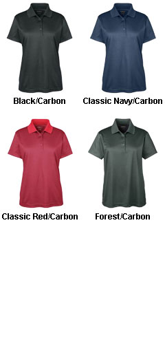 Ladies Express Microstripe Pique Polo - All Colors
