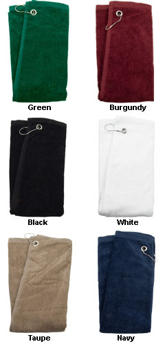 Embroidered or Full Color Printed Golf Towels - All Colors