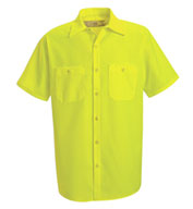 Custom Red Kap Mens Enhanced Visibility Work Shirt