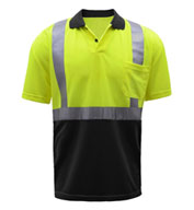 Custom GSS Safety Class 2 SPF 50 Moisture Wicking Mens Polo