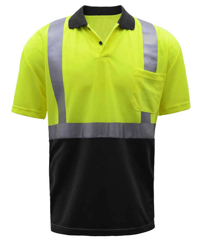 GSS Safety Class 2 SPF 50 Moisture Wicking Mens Polo