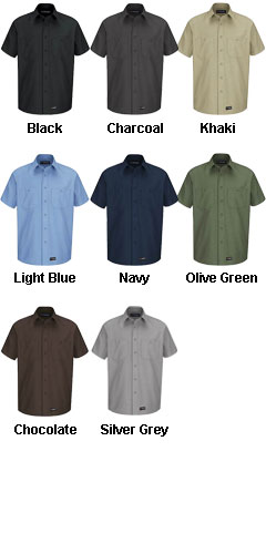 Wrangler Mens Short Sleeve Work Shirt - All Colors