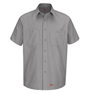 Custom Mens Short Sleeve Work Shirt