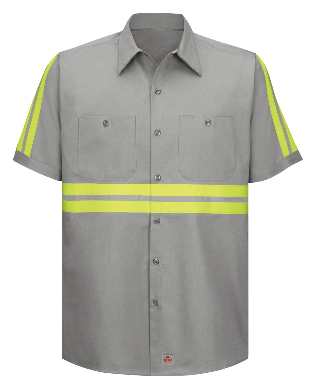 Red Kap Mens Enhanced Visibility S/S Cotton Work Shirt
