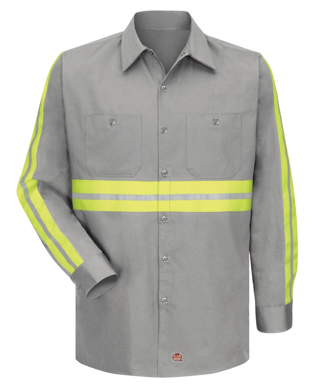 Mens Enhanced Visibility L/S Cotton Work Shirt