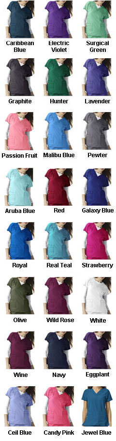 Wonder Wink Four-Stretch Sporty V-Neck Ladies Top - All Colors