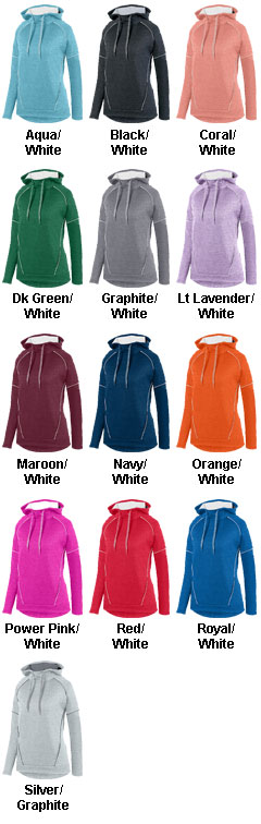 Ladies Zoe Tonal Heather Hoodie - All Colors