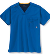Custom Carhartt Medical Mens V-Neck Multi-Pocket Top