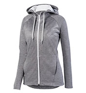 Custom Ladies Zoe Tonal Heather Full Zip Hoodie