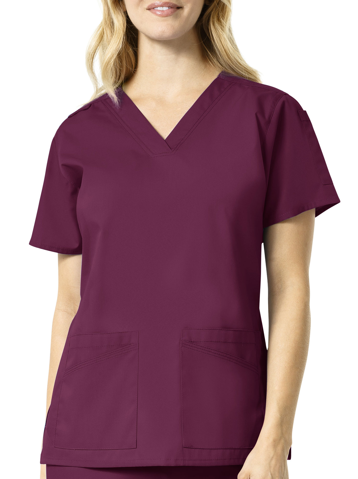 Carhart Medical Womens V-Neck Multi-Pocket Top