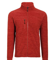 Custom Mens Cascade Marled Fleece Jacket