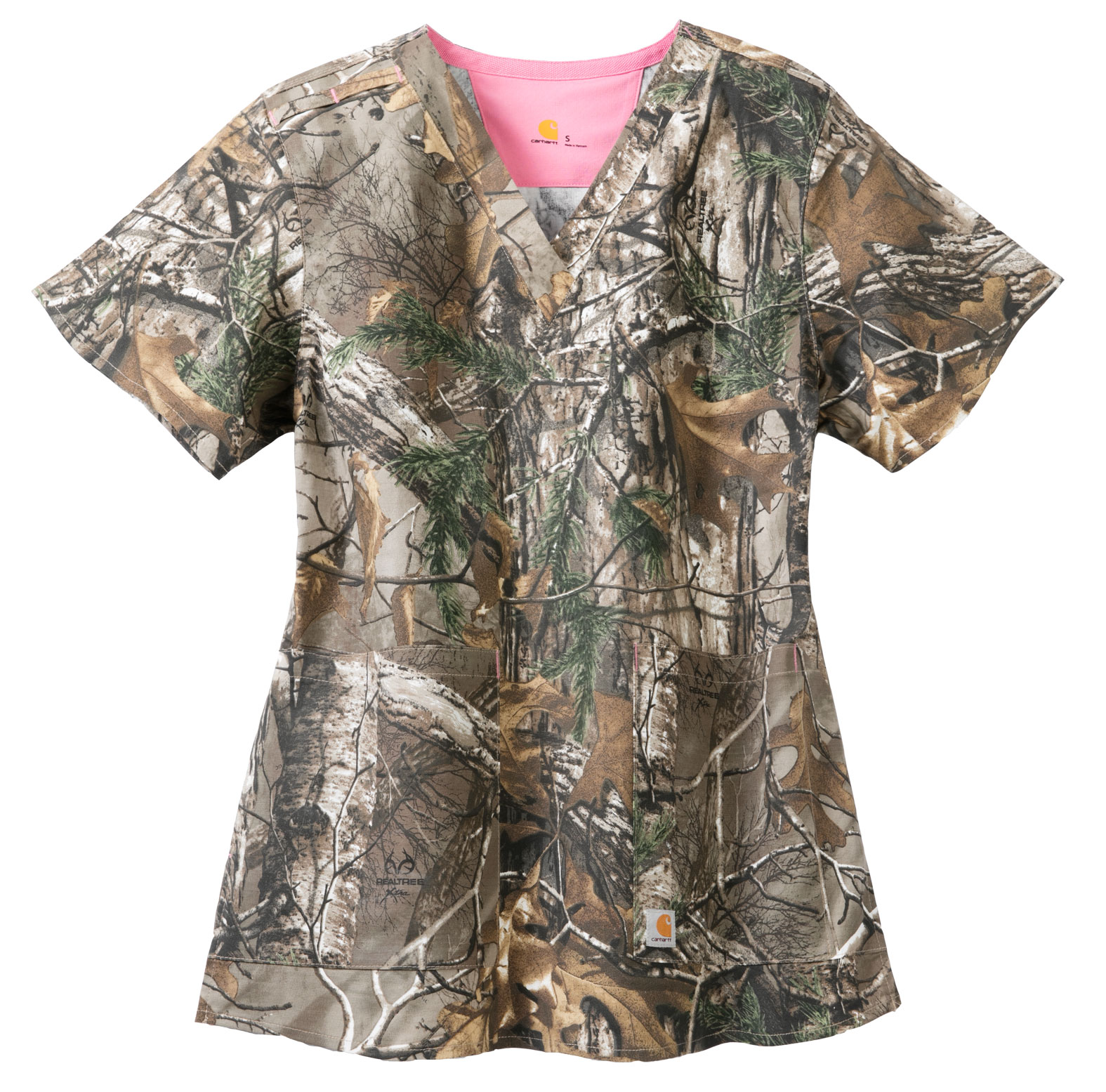 Carhartt Medical Ladies Realtree Print V-Neck Top