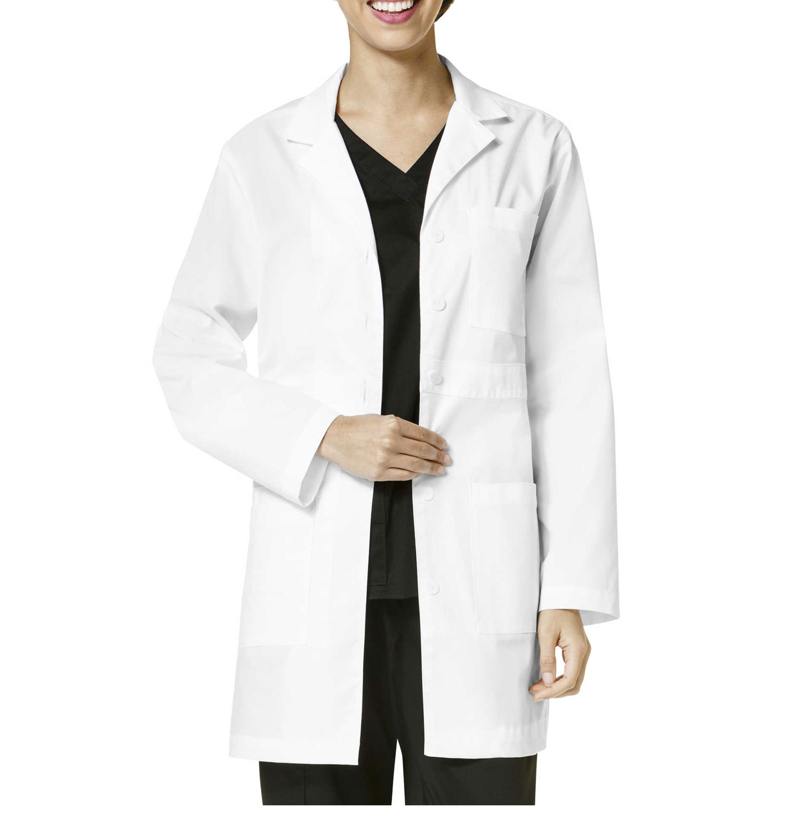 Womens Basic Lab Coat from Wonder Work