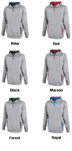 Adult Linear 1/4 Zip Hoodie  - All Colors