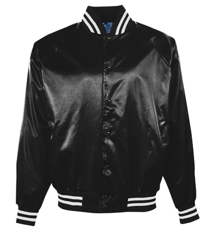 Youth Pro-Satin Jacket with Striped Trim - Quilt Lined
